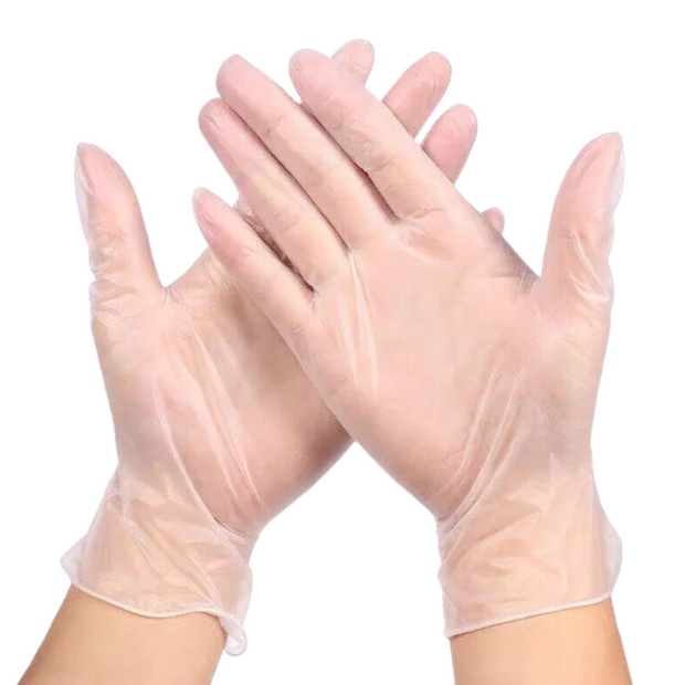 Clear Vinyl Disposable Gloves - Powder Free