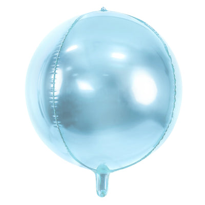 Baby Blue Foil Balloon Ball 16""
