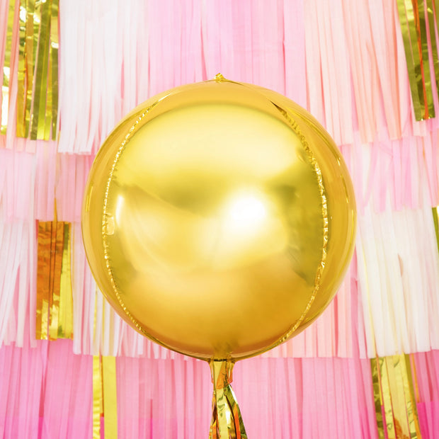 Gold Foil Balloon Ball 16""