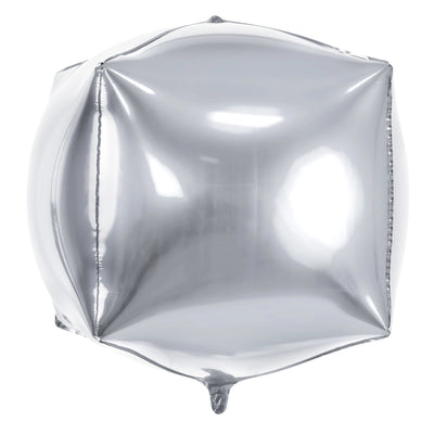 Silver Foil Balloon Square Cubic 14""