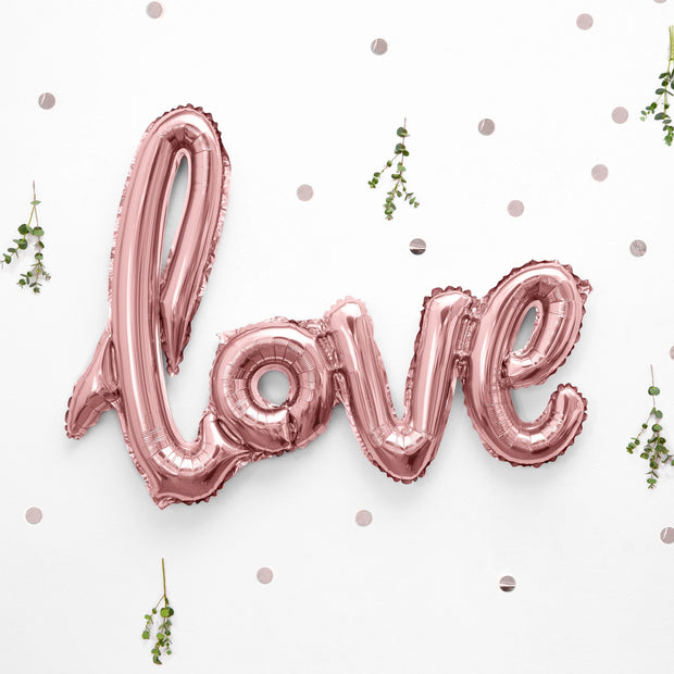 Love Rose Gold Foil Balloon