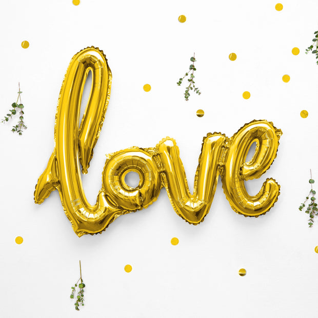 Love Gold Foil Balloon