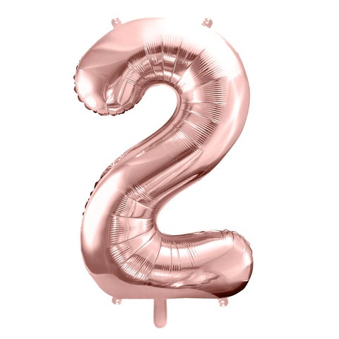 Rose Gold Foil Number 2 Balloon 34""