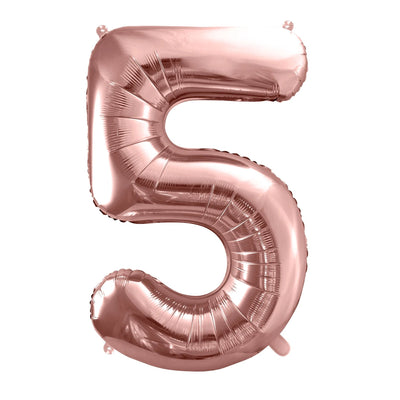 Rose Gold Foil Number 5 Balloon 34""