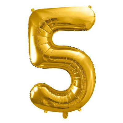 Gold Foil Number 5 Balloon 34""