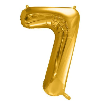 Gold Foil Number 7 Balloon 34""