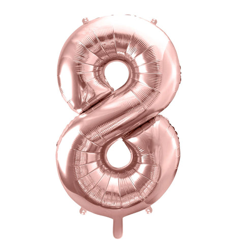 Rose Gold Foil Number 8 Balloon 34""