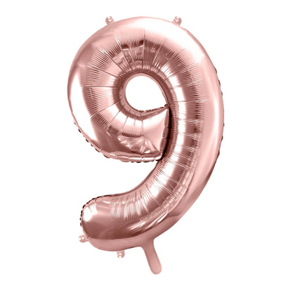 Rose Gold Foil Number 9 Balloon 34""