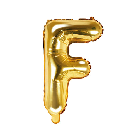 Gold Foil Letter F Balloon 14""