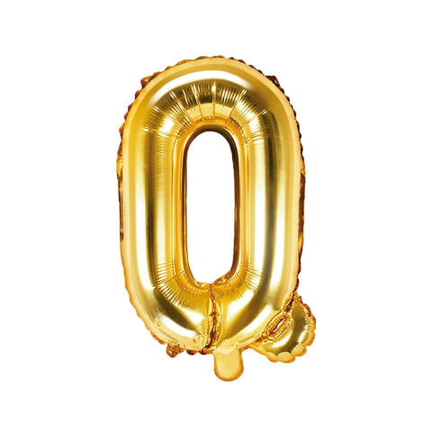 Gold Foil Letter Q Balloon 14""
