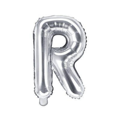 Silver Foil Letter R Balloon 14""