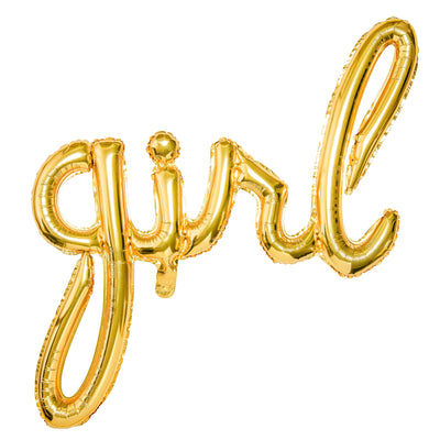 Girl Gold Foil Balloon