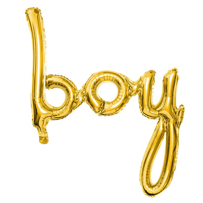 Boy Gold Foil Balloon