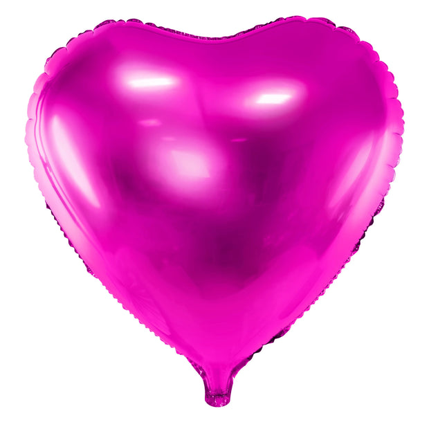 Hot Pink Foil Heart Balloon 18""