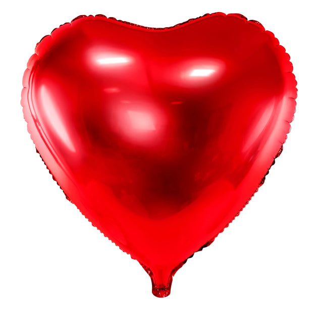 Red Foil Heart Balloon 18""