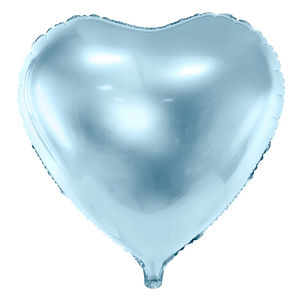 Baby Blue Foil Heart Balloon 18""