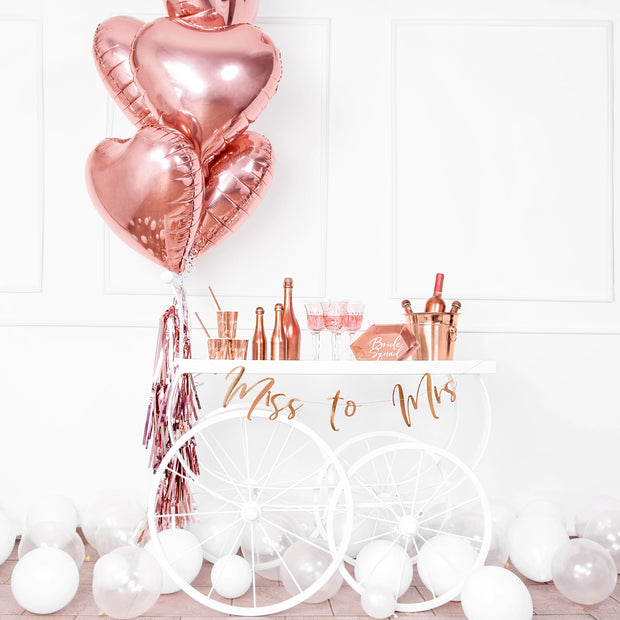 Rose Gold Foil Heart Balloon 18""