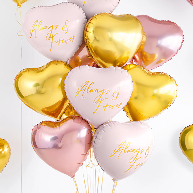 Gold Foil Heart Balloon 18""