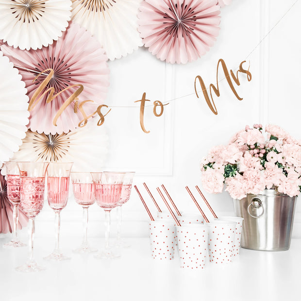 Rose Gold Miss to Mrs Banner 30""