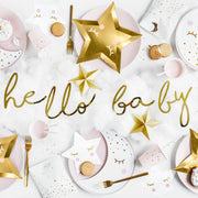 Gold Hello Baby Little Star Banner