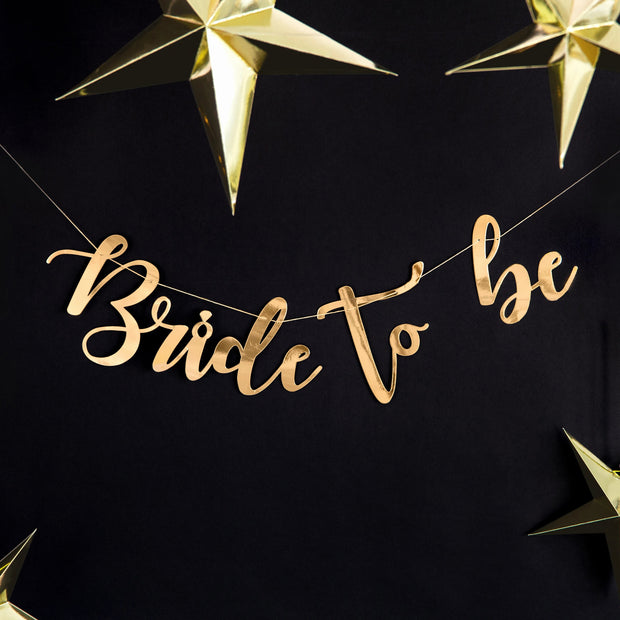 Gold Bride To Be Banner