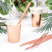 Rose Gold Paper Cups 220ml (6 Pack)