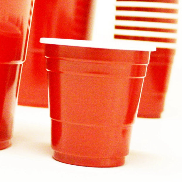 Red Plastic Cups 60ml (50 Pack)