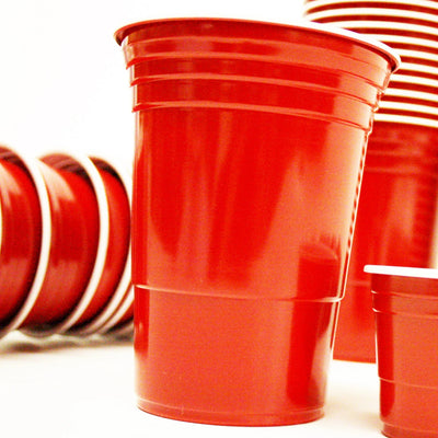 Red Plastic Cups 455ml (50 Pack)