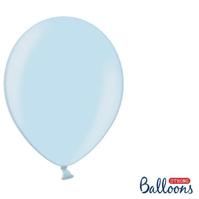 "Baby Blue Strong Latex Balloons 12"" (10 Pack)"
