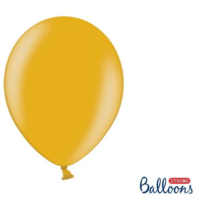 "Gold Strong Latex Balloons 12"" (10 Pack)"