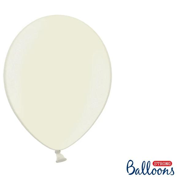 "Ivory Strong Latex Balloons 12"" (10 Pack)"