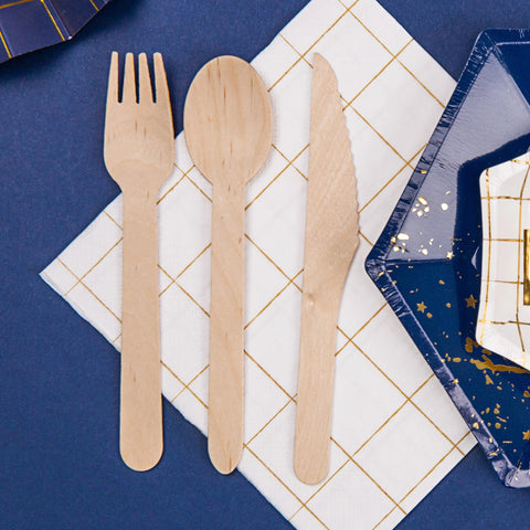 Wooden Cutlery 16cm (18 Pack)