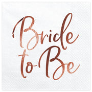 Rose Gold Bride to Be Square Paper Napkins 33cm (20 Pack)