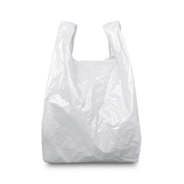 White Plastic Carrier Bags - 5 Sizes Available