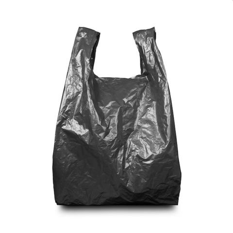 Black Plastic Carrier Bags - 8x13x18""
