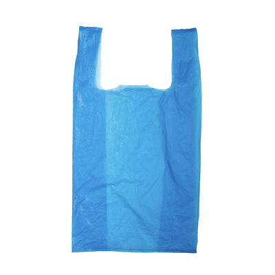 Blue Plastic Carrier Bags - 11x17x21""