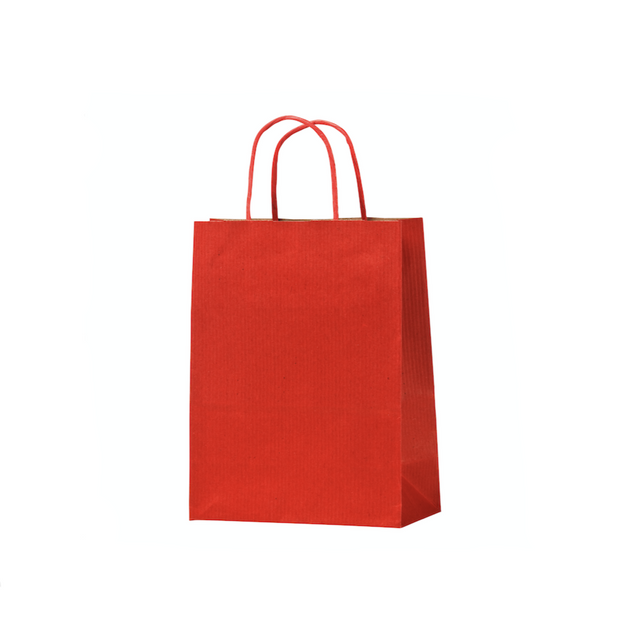 Red Paper Bags Twisted Handle (25 Pack) - 4 Sizes Available