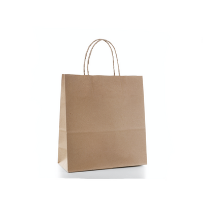 Brown Paper Bags Twisted Handle (25 Pack) - 4 Sizes Available