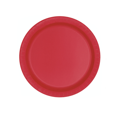 Red Paper Plates 18cm (8 Pack)