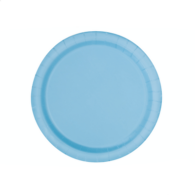 Baby Blue Paper Plates 18cm (8 Pack)