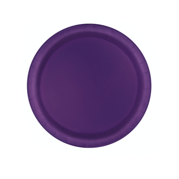 Deep Purple Paper Plates 18cm (8 Pack)