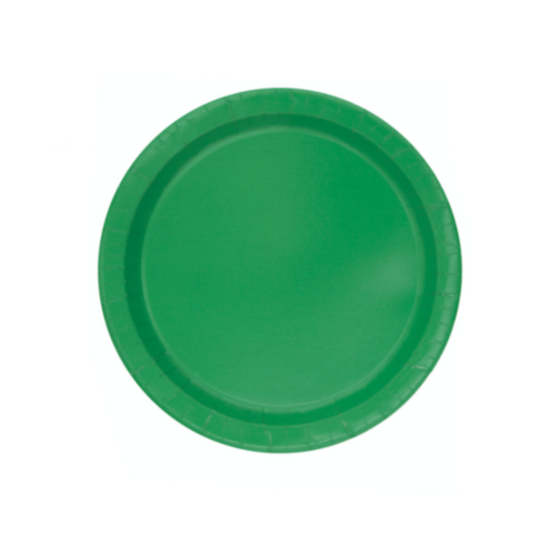 Emerald Green Paper Plates 18cm (8 Pack)