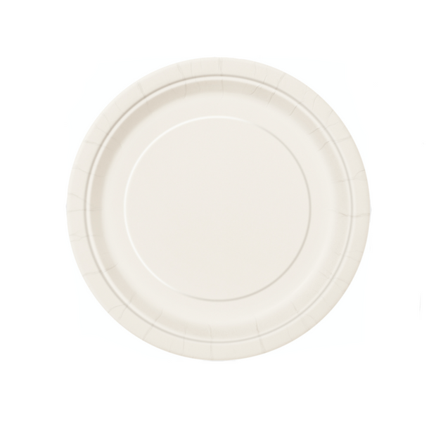 Ivory Paper Plates 18cm (8 Pack)