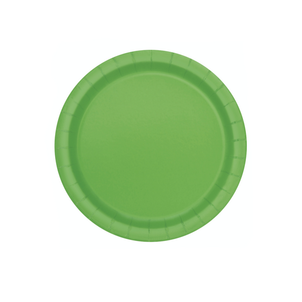 Lime Green Paper Plates 18cm (8 Pack)
