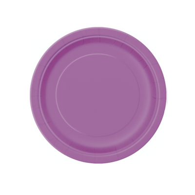 Purple Paper Plates 18cm (8 Pack)