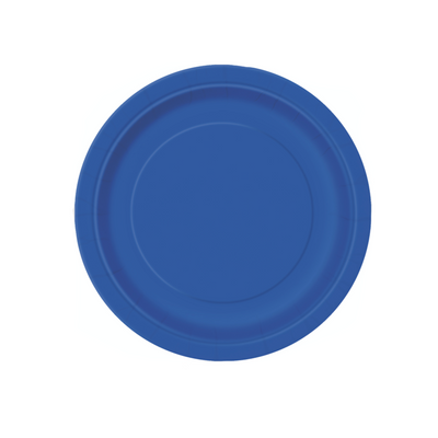 Royal Blue Paper Plates 18cm (8 Pack)