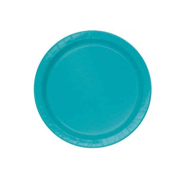Teal Paper Plates 18cm (8 Pack)