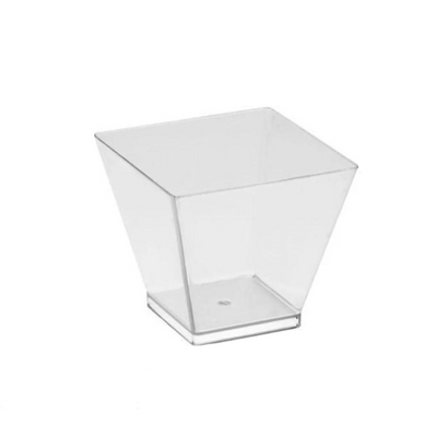 Plastic Square Dessert Cups Clear 60ml (50 Pack)