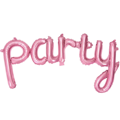 Party Pink Foil Balloon