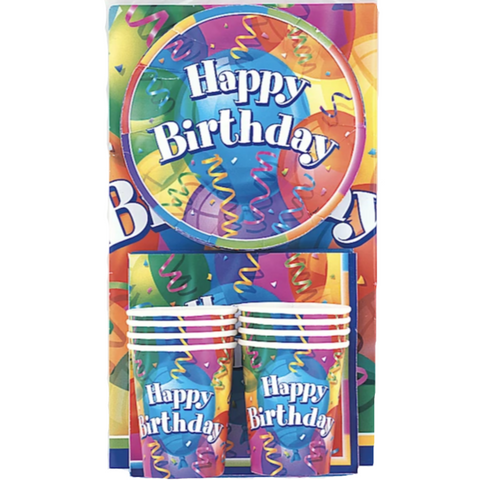 Happy Birthday Party Pack For 8 People